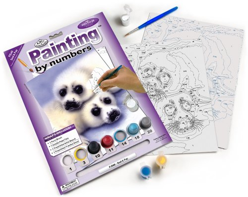 Royal & Langnickel Painting by Numbers Junior Small Art Activity Kit, Seal and Pups