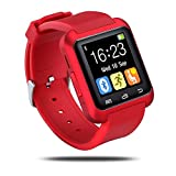 Smart Wrist Wrap Watch Phone, Smart Watch for Android Samsung, U80 Bluetooth 4.0 for Smartphones IOS Android Android Samsung Galaxy S3/S4/S5 /S6 Note 2/Note 3 Note 4 HTC Sony (Red)