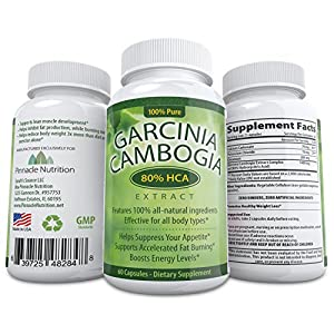 Insanely Potent Garcinia Cambogia Extract! 80% HCA - Highest on Amazon - #1 Carb Blocker - Decreases Appetite, Increases Energy & Burns Fat Naturally - Contains A Whopping 1400mg 80% HCA w/ Potassium - Premium & All-Natural - Moneyback Guarantee