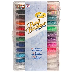 Blue Moon Bead Boutique Bead Box, Multi Color Seed Beads
