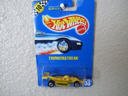 Hot Wheels Thunderstreak All Blue Card #153 Yellow Pennzoil - 1