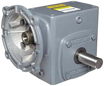 "Boston Gear F72110KB7J Right Angle Gearbox, NEMA 140TC Flange Input, Left Output, 10:1 Ratio, 2.06"" Center Distance, 2.34 HP and 789 in-lbs Output Torque at 1750 RPM"