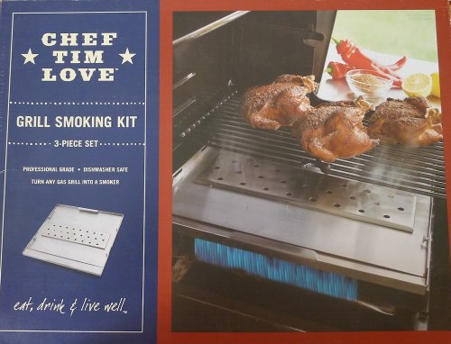 Gas Grill Smoking Kit by Chef Tim Love for Sur la Table, 3-piece set (Chef Tim Love compare prices)