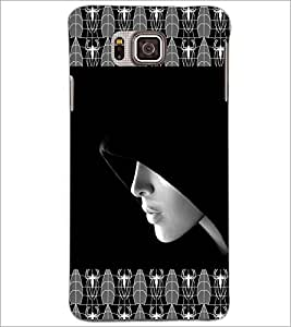 PrintDhaba Girl In Shade D-4093 Back Case Cover for SAMSUNG GALAXY ALPHA (Multi-Coloured)
