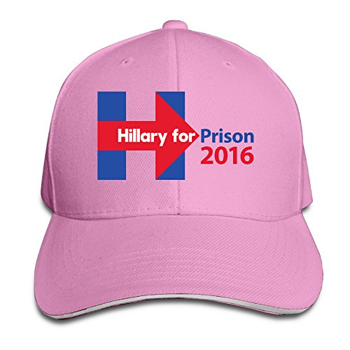 unisex-hillary-clinton-for-prison-2016-adjustable-snapback-trucker-hat-100cotton-pink-one-size