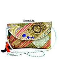 Designer Multi Women Clutch Embroidered Purse Evening Indian Handbag India - B0117LLW20