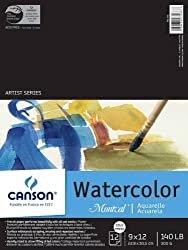 Canson Montval Watercolor Paper 18 in. x 24 in. pad of 12 by Canson