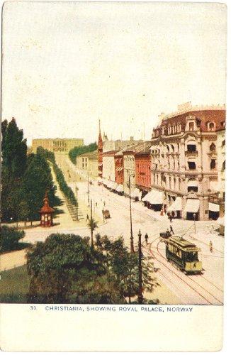 1910 Vintage Postcard Royal Palace - Christiania