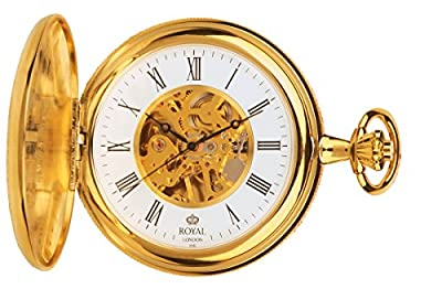 Royal London Pocket Watch 90005-02 Gold Plated Double Hunter