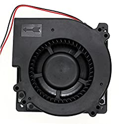 Brushless Radial Blower - UTUO DUAL Ball Bearing High Speed Low Noise 12V DC Centrifugal Fan with XH-2.5 Plug 120mm by 120mm by 32mm 4.72x4.72x1.26 inch