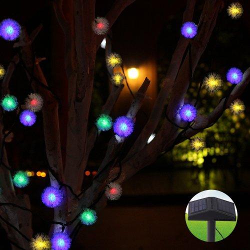 Nouveau pour pms 200 led multi couleur guirlande for Decoration jardin lumineuse