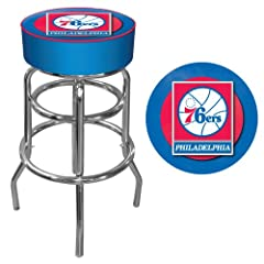 NBA Philadelphia 76ers Padded Swivel Bar Stool by Trademark Games