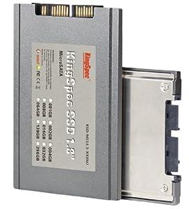 128 GB KingSpec SSD (1,8 Zoll 4,52cm) , micro SATA Anschluss, Festplatte, MLC , CM3-KS-137-91