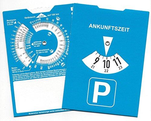 Europa-Parkscheibe-Parkuhr-mit-Benzinrechner-Rckseite-neutral-ohne-Werbung