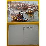 Antigua Postal - Old Postcard : The Floating Population of Hong Kong - La poblacion flotante de Hong Kong