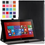 MoKo Nokia Lumia 2520 Case - Slim-Fit Multi-angle Stand Cover Case for Nokia Lumia 2520 10.1 Inch Microsoft Windows RT 8.1 Tablet, BLACK (With Smart Cover Auto Wake / Sleep)
