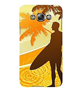 99Sublimation Boy at the beach 3D Hard Polycarbonate Back Case Cover for Samsung Phones