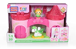 Mega Bloks Lil Princess Buildable 3 Story Enchanted Castle
