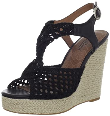 Lucky Women's Rilo Wedge Sandal,Black,5 M US