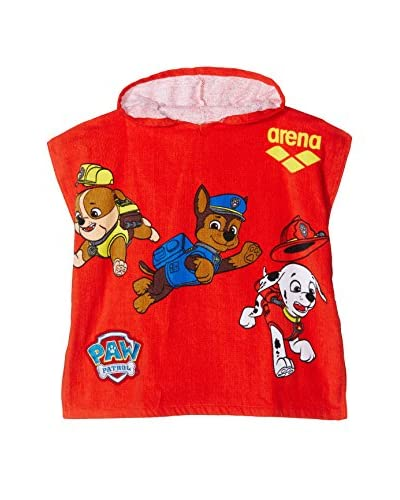ARENA Accappatoio Paw Patrol Kids Poncho [Rosso]