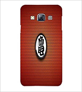 PrintDhaba Red Pattern D-1560 Back Case Cover for SAMSUNG GALAXY A3 (Multi-Coloured)