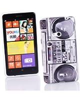 Kit Me Out FR Coque en gel TPU pour Nokia Lumia 625 - multicolores imitation radiocassette