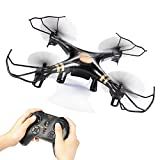 GPTOYS-Black-Aviax-24GHz-6-Axis-GYRO-RC-Quadcopter-Drone-with-Headless-Mode-360-degree-3D-Rolling-One-Key-Return-LED-Lights-ABS-Materials-DIY-Luxury-Gift-Box-Color-Black