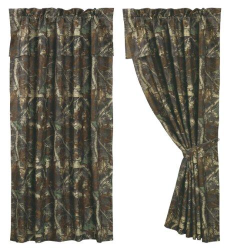 "Oak Camo Curtain, 60""X84"" front-8970"