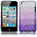 APPLE IPOD TOUCH 4TH GEN SILVER/PURPLE DIAMANTE CASE / COVER / SHELL PART OF THE QUBITS ACCESSORIES RANGEby Qubits