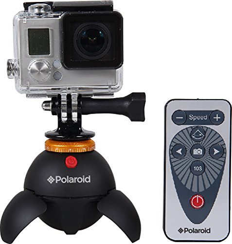 Polaroid-Rechargeable-Panorama-EyeBall-Head-wAttachments-for-GoPro-Action-Cameras-Bluetooth-Digital-Devices-All-Tripod-Mounted-Cameras-Camcorders
