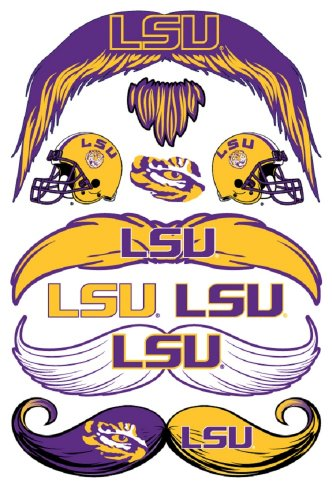 StacheTATS LSU Temporary Mustache Tattoos - 1