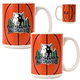 Minnesota Timberwolves NBA 2pc Ceramic Gameball Mug Set - Primary Logo