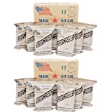 MRE Star MREs - 2 x Cases of 12 Full Meals: 24 Meals Total - Military, Survival Meals