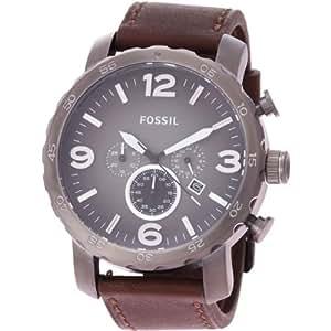 fossil herren armbanduhr xl chronograph quarz leder jr1424. Black Bedroom Furniture Sets. Home Design Ideas
