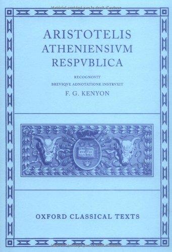 Aristotle Atheniensium Respublica (Oxford Classical Texts)