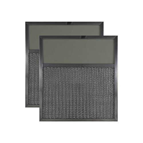 2 PACK 11 x 12 x 3/8 Range Hood Aluminum Lens Grease Filters AFF143-L by Air Filter Factory (Hood Range Light Cover compare prices)