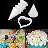 6 PCS Calla Lily Flower Cake Decorating Cutter Mould Sugarcraft Fondant Clay Tool