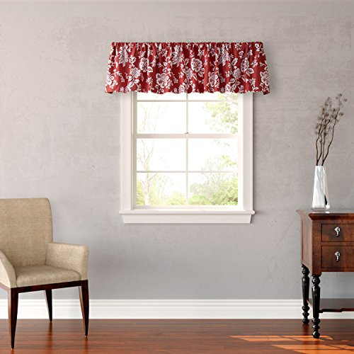 Stone Cottage Ceylon Window Valance, Red - 1