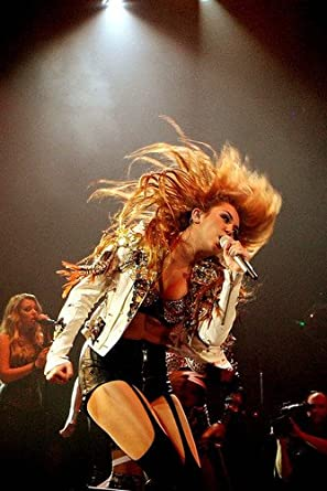 Miley Cyrus Dramatic In Concert Bra Top 24x36 Poster at Amazon's