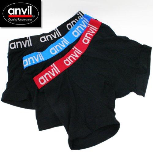 deuse anvil アンヴィル アンビル定番ボクサーパンツ ブラック ANV531 メンズ アンダーウェアanvi0001
