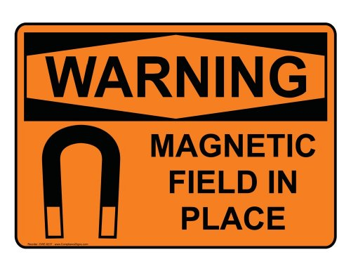 Compliancesigns Plastic Osha Warning Sign, 10 X 7 In. With Mri / X-Ray / Microwave Info In English, Orange
