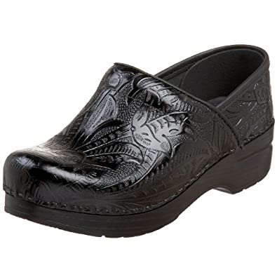 Dansko Women's Professional Tooled Clog,Black,36 EU / 5.5-6 B(M) US