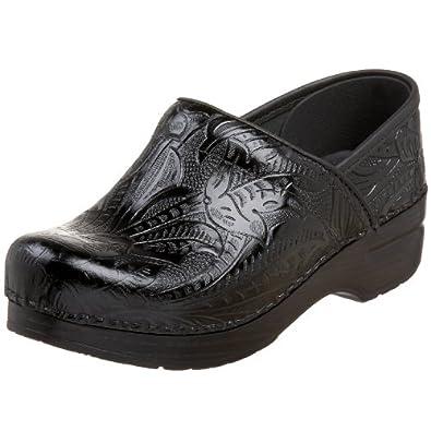 All Black Leather Nursing Shoes
