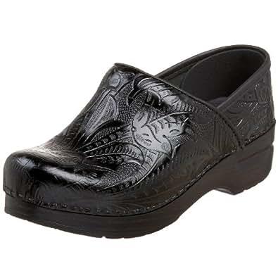 Dansko Professional Tooled Clog - Women's Black Tooled, 35.0