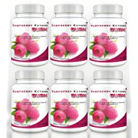Raspberry Ketone Burn (6 Bottles) - Highly Concentrated Raspberry Ketones Fat Burning Formula. The New All Natural Weight Loss Supplement - 500mg
