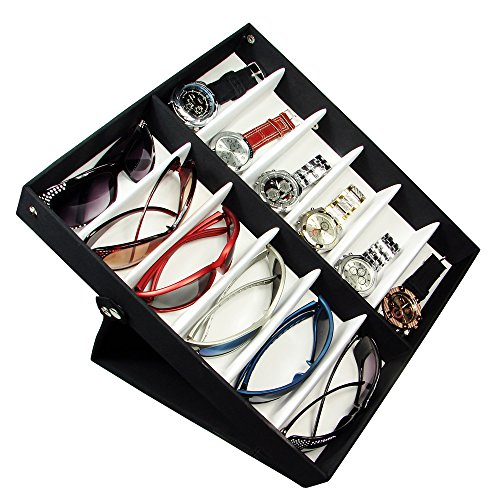 Eyewear Storage And Display Case Up To 12 Frames. Nylon Fabric Covered. Three Display Positions. (Eyeglasses Display Case compare prices)