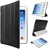 EasyAcc® Ultra Slim iPad Air Smart Case Cover with Stand / Auto Sleep Wake-up for Apple iPad Air / iPad 5 (Top Premium PU Leather, Folded Cover Design, Black)
