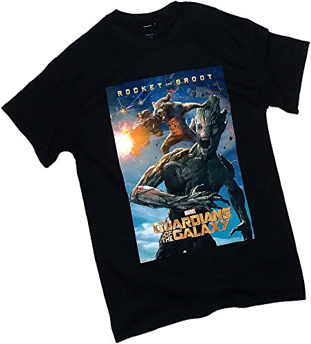 Rocket Raccoon & Groot Poster -- Guardians Of The Galaxy T-Shirt