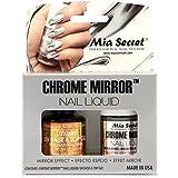 Mia Secret Chrome Mirror Nail Liquid UV Base Top Gel Set Mirror Effect Nail Liquid