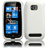 White Silicone Jelly Skin Case Cover for Nokia Lumia 710